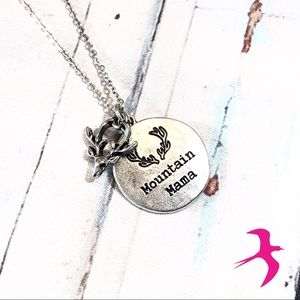 ⭐️ Brand New Mountain Mama Necklace & Earrings Set
